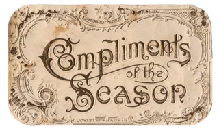 Victorian compliments of the season