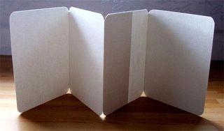 Blank accordian fold