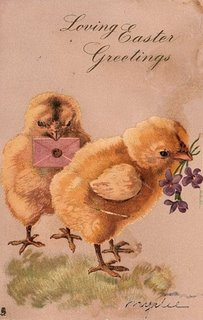 Graphics fairy - Two fluffy Easter chick