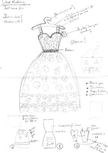Dress card scribble