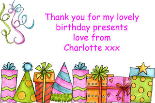 Charlotte's thank you card
