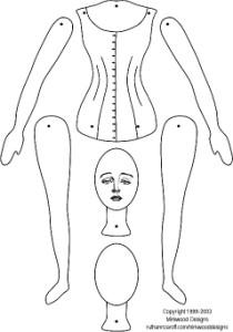 Mirkwood doll template (210 x 300)