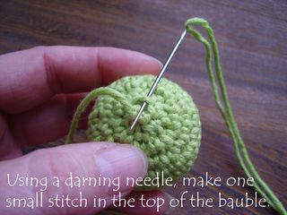 Pic 16 darning needle stitch