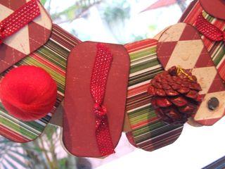 Paper wreath 6 closeup