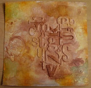 Background with watercolour and mica mists