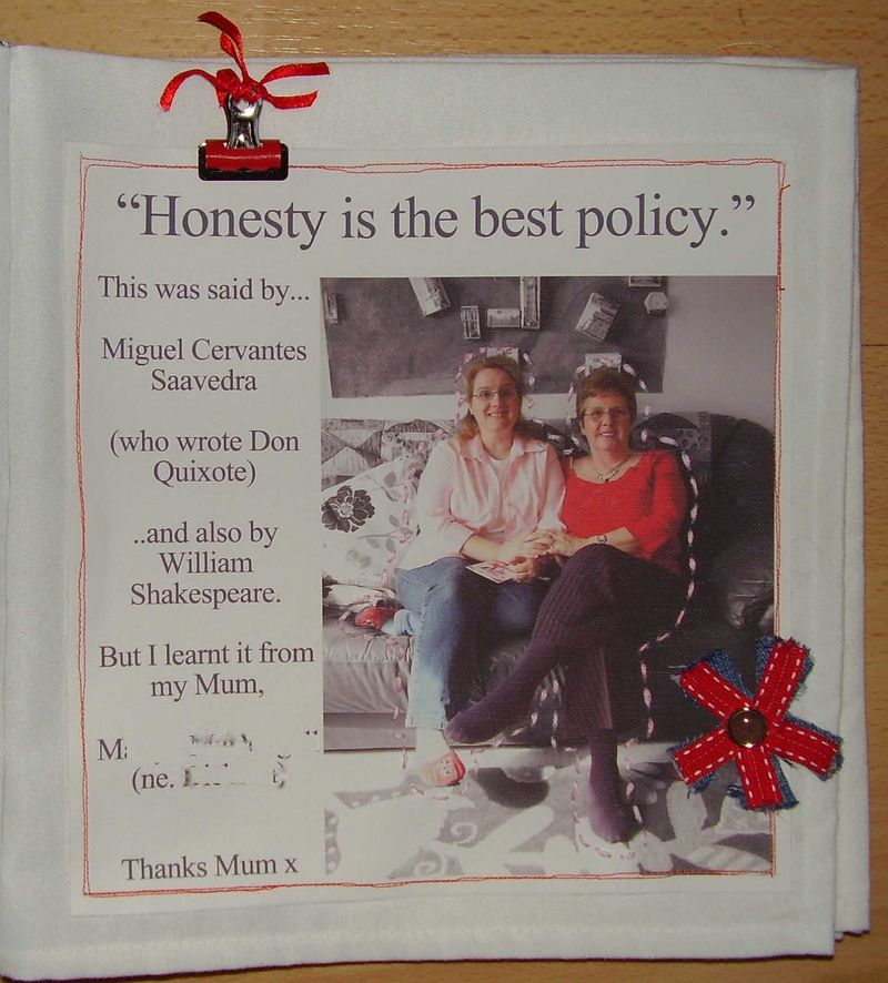 HONESTY page for IACW web