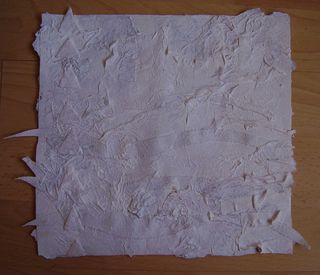 Dry gesso fabric 
