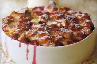 Waffle berry pud