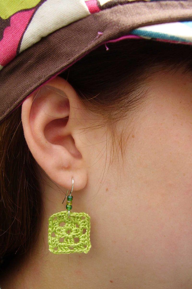 Crochet earings close up web