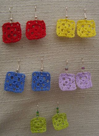 Crochet earing collection web