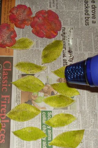 Heating leaves flowers web