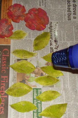 Heating leaves flowers web