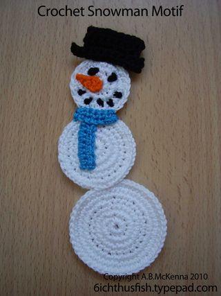 Crochet Snowman Motif web