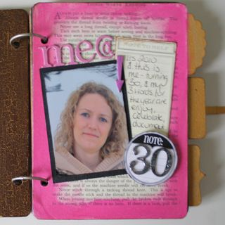 30 project - journal front page