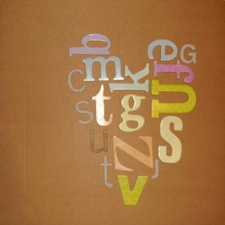 Letters arranged into a heart shape web