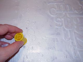 Imprinting texture into the gesso