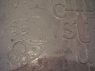 Close up of wet gesso