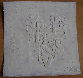 Dry gesso textured background