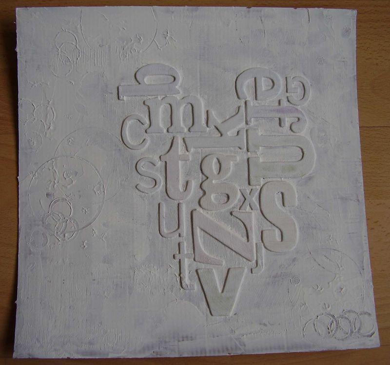 Dry gesso textured background