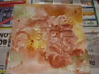 Watercolour painted ready to spray