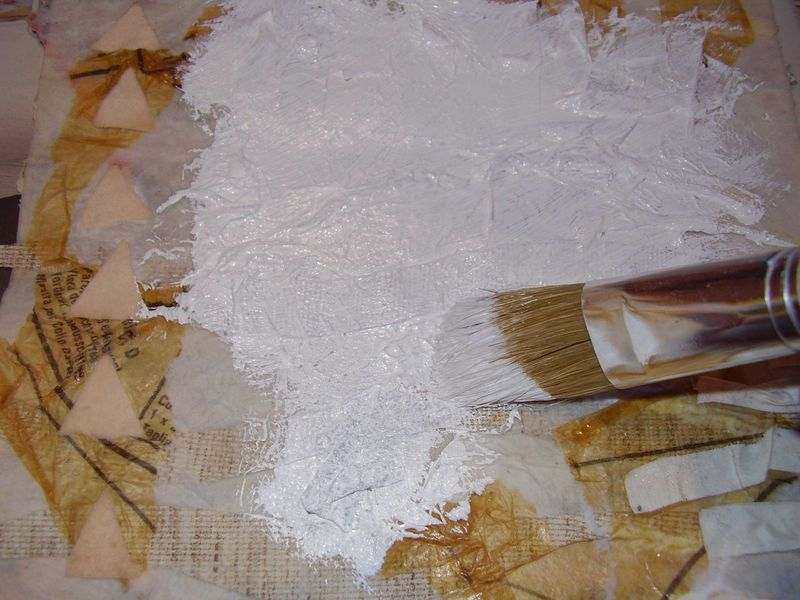 Gesso coating web