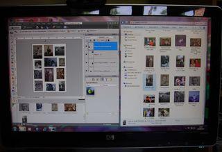 Screenshot photo editing web