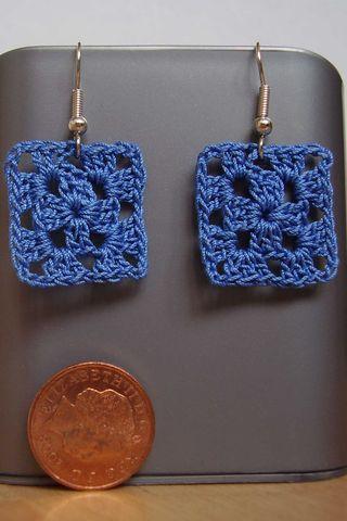 Crochet earings size of a penny web