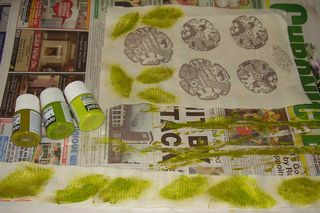Painted leaves and stems web
