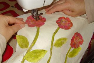 Stitching flowers web
