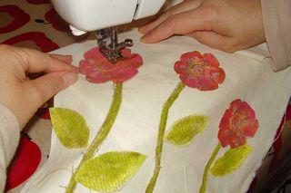 Stitching flowers web