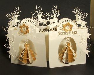 Spiral tree door card