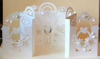Poinsettia Basket Door Card made as Wedding card