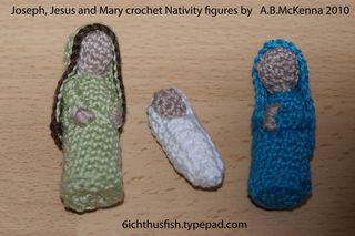 Crochet Nativity figures web