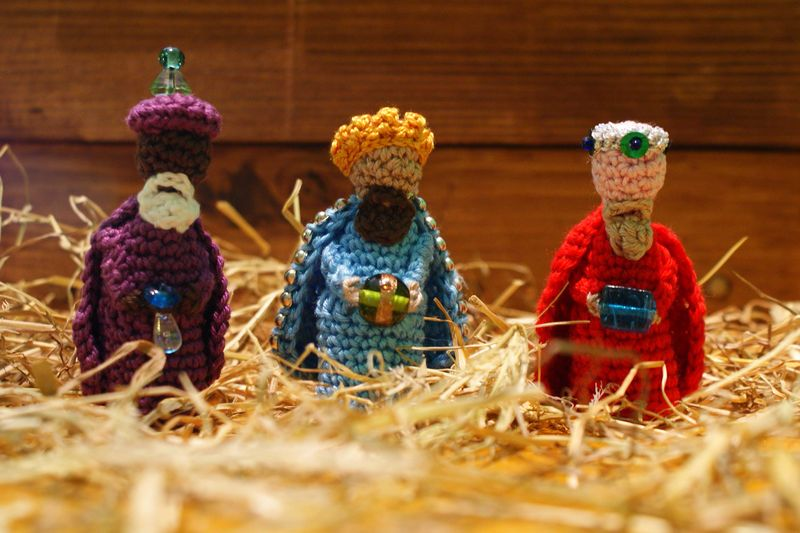 3 kings crochet Nativity  figures web
