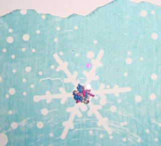 Close up of beadazzles on snowflake