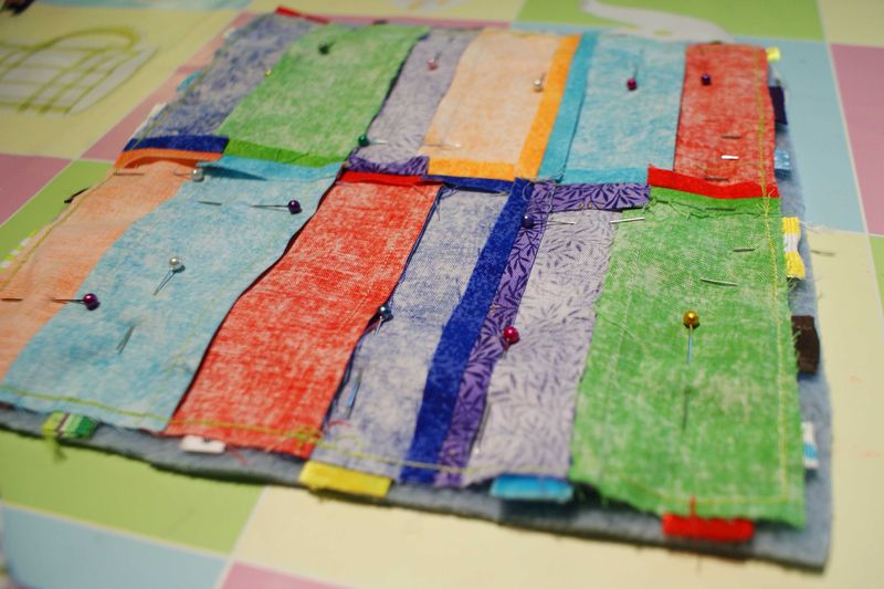 6 fleece and top patchwork for Ribbon Blankie web