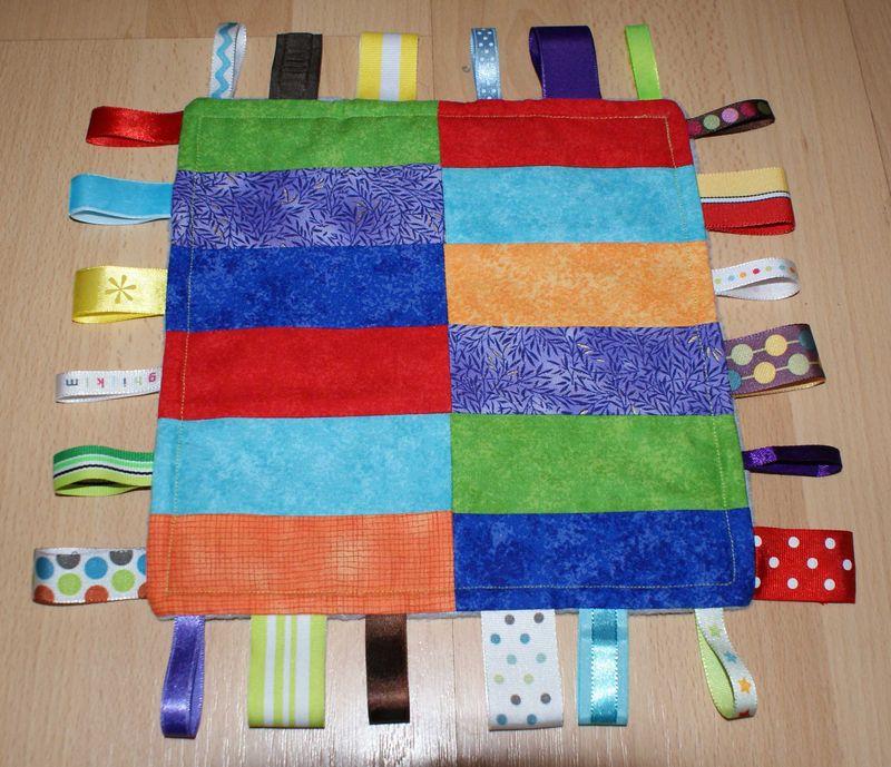 8 Finished Ribbon Blankie patchwork side web