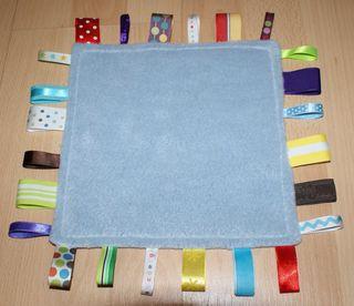 9 finished Ribbon Blankie fleece side web
