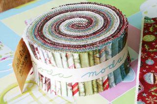 1 Moda Jelly Roll Basic Grey FRUITCAKE fabric strips web