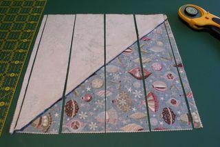 6 cut strips begin in middle web