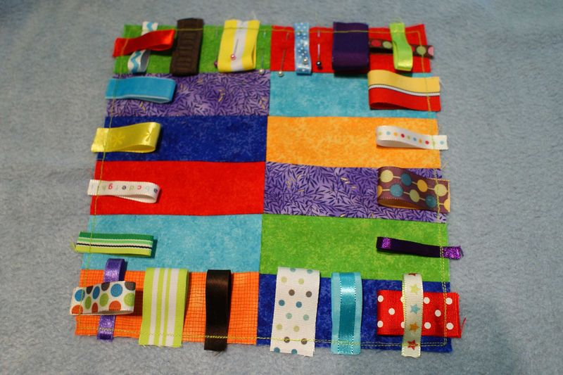 4 double stitched ribbons for Ribbon Blankie web