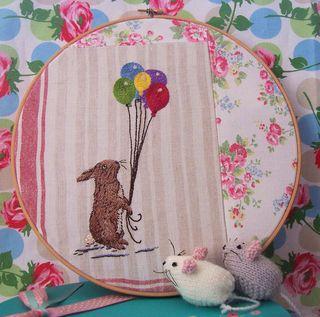 Bunny & balloons image
