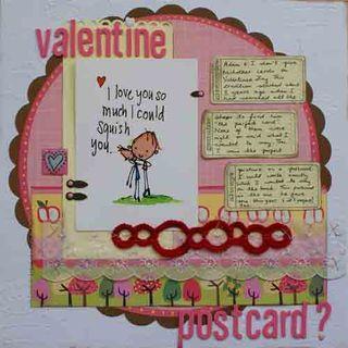 HYBRID valentine postcard no photos LO