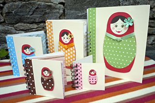 Matryoshka doll notebooks