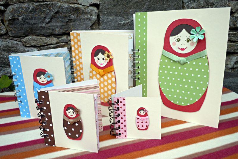 Matryoshka doll notebooks