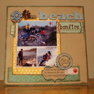 Beach bonfire sketch LO