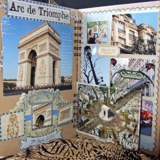 Paris album arc postcard