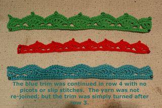 Scallop trim web