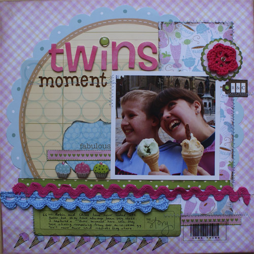 Week One Scrap Factor twins moment