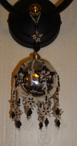 Starry night beaded bauble